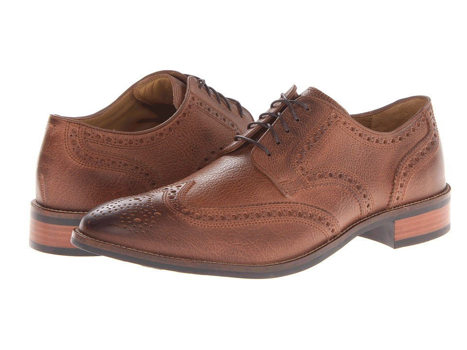 Cole Haan - Lenox Hill Wingtip (Brown Milled) Men's Lace Up Wing Tip Shoes