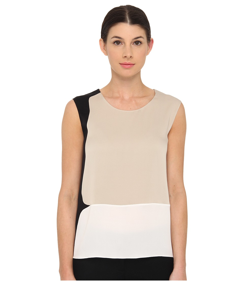 Calvin Klein Collection - Toral Top (Angora/Lemon/Black) Women's Clothing