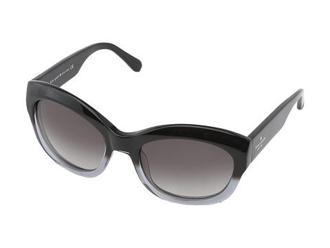 Kate Spade New York - Arianna (Black Fade/Grey Gradient) Plastic Frame Fashion Sunglasses