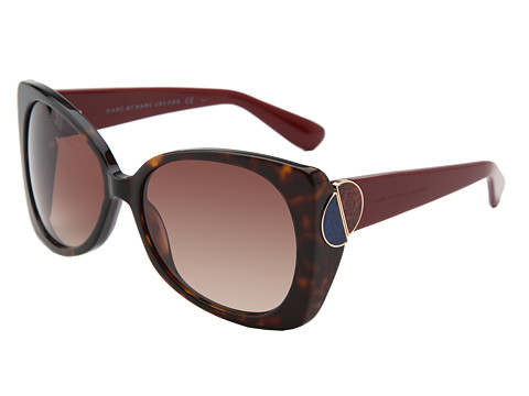 Marc by Marc Jacobs - MMJ 406/S (Dark Havana/Brown Gradient) Fashion Sunglasses