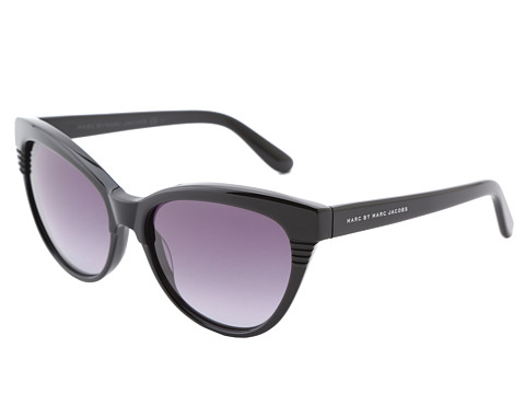 Marc by Marc Jacobs - MMJ 390/S (Black/Grey Gradient) Plastic Frame Fashion Sunglasses