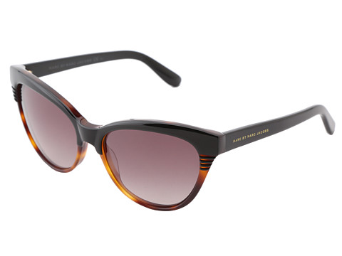Marc by Marc Jacobs - MMJ 390/S (Black Dark Tortoise/Brown Gradient) Plastic Frame Fashion Sunglasses
