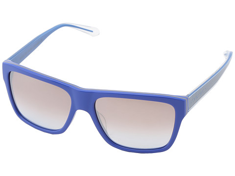 Marc by Marc Jacobs - MMJ 380/S (Blue Mud/Brown Blue) Fashion Sunglasses