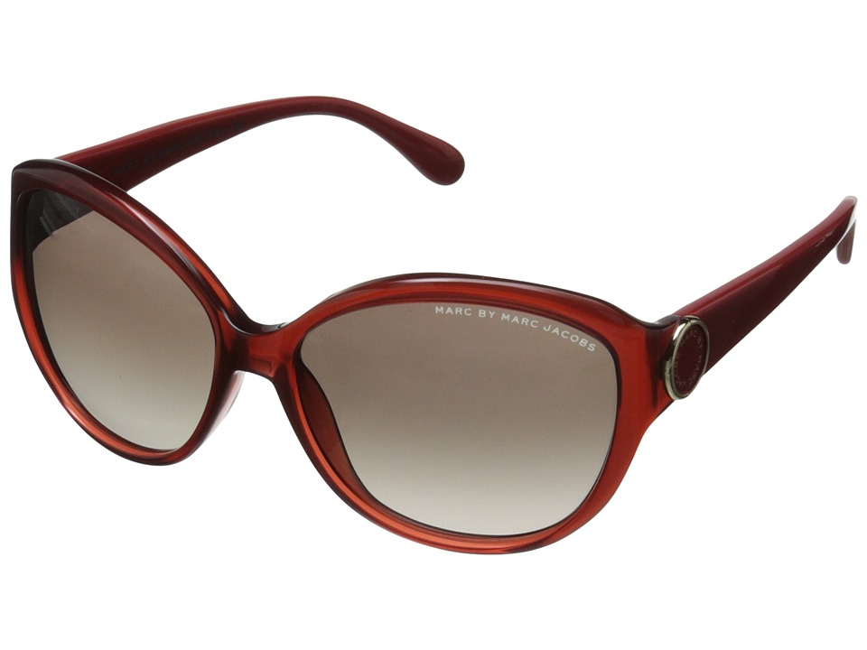 Marc by Marc Jacobs - MMJ 384/S (Transparent Burgundy/Brown Gradient) Plastic Frame Fashion Sunglasses