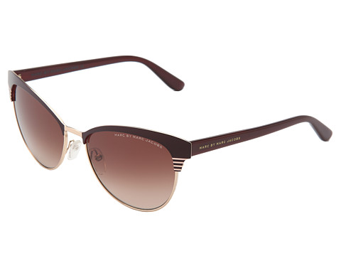 Marc by Marc Jacobs - MMJ 398/S (Red Gold/Brown Gradient) Fashion Sunglasses