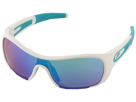 Julbo Eyewear Groovy Sunglasses - Spectron 3 Lenses and Blue Flash (White) Sport Sunglasses