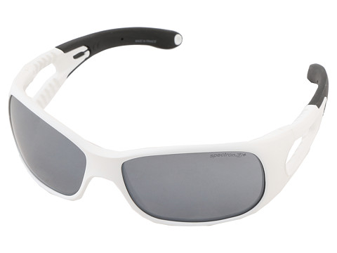Julbo Eyewear - Trainer L Kids Sunglasses, White/Black w/ Spectron 3 Lenses (6-10 Years) (White/Black) Sport Sunglasses