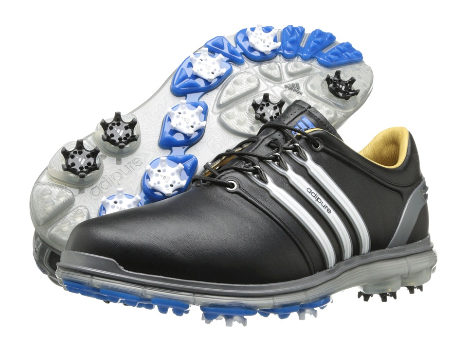 adidas Golf - pure 360 (Black/Running White/Samba Blue) Men's Golf Shoes