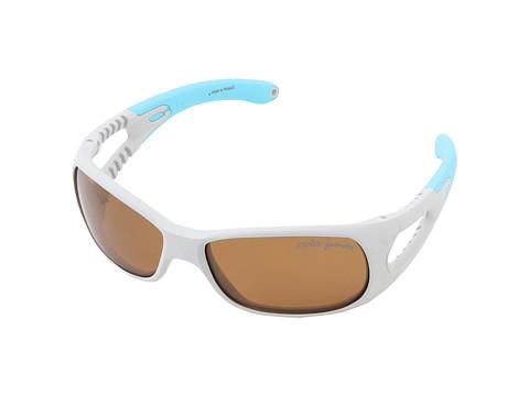 Julbo Eyewear Trainer Kids Sunglasses, Grey/Blue w/ Kids Polarized Lenses (3-6 Years) (Grey/Blue) Sport Sunglasses