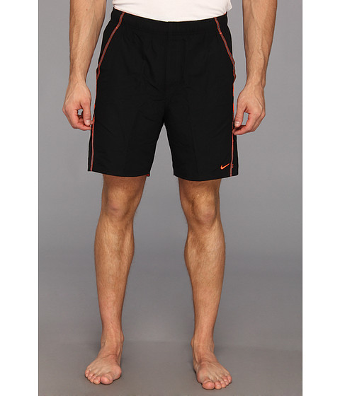 Nike - Extended Core Velocity Volley Short (Black) Men's Swimwear