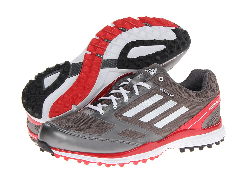 adidas Golf - adiZERO Sport II (Dark Silver Metallic/Running White/Red) Men's Golf Shoes