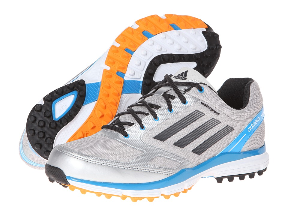 adidas Golf - adiZERO Sport II (Metallic Silver/Carbon/Solar Blue) Men's Golf Shoes