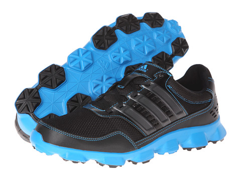 adidas Golf - Crossflex Sport (Black/Black/Solar Blue) Men