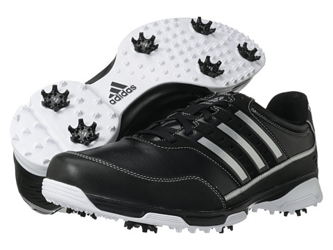 adidas Golf - Golflite Traxion (Black/Black/Dark Metallic Silver) Men