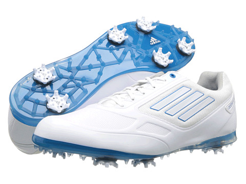 adidas Golf - adiZERO Tour II (Running White/Running White/Solar Blue) Women's Golf Shoes