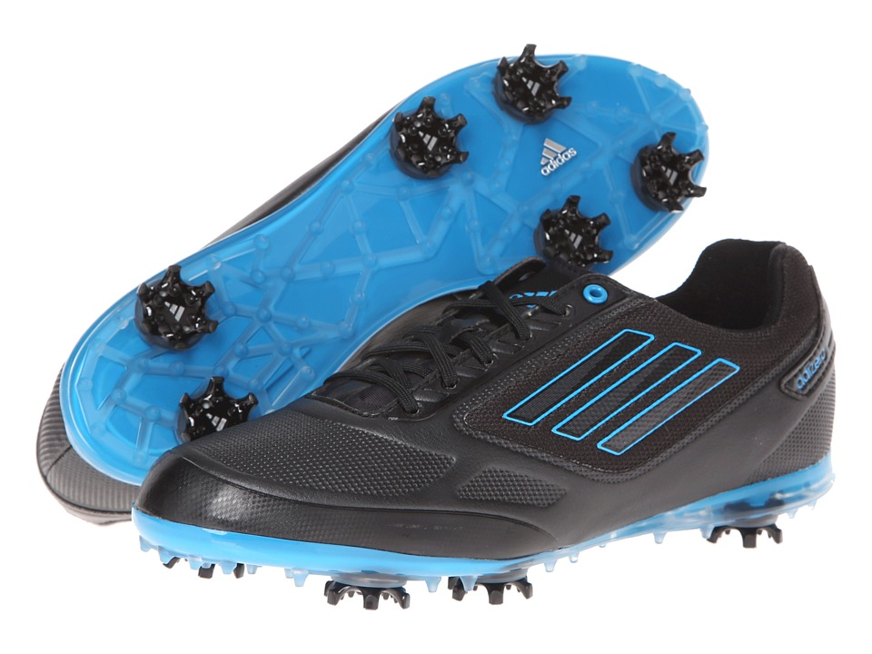 adidas Golf - adiZERO Tour II (Black/Black/Solar Blue) Women's Golf Shoes