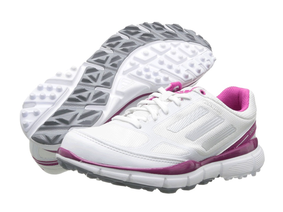adidas Golf - adiZERO Sport II (Running White/Metallic Silver/Bahia Magenta) Women's Golf Shoes