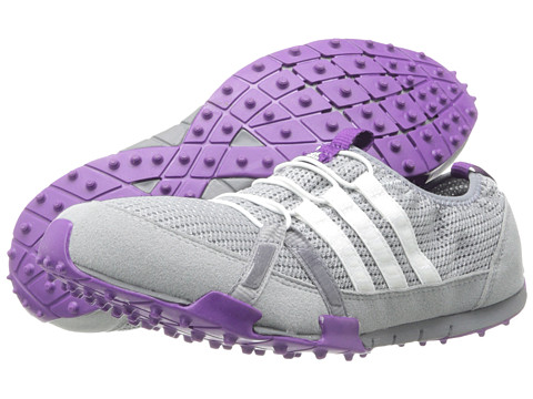 adidas Golf - Climacool Ballerina (Mid Grey/Running White/Tribe Purple) Women's Golf Shoes