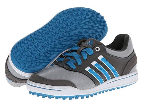 adidas Golf - Jr Adicross III (Little Kid/Big Kid) (Mid Grey/Dark Solar Blue/Dark Cinder) Athletic Shoes