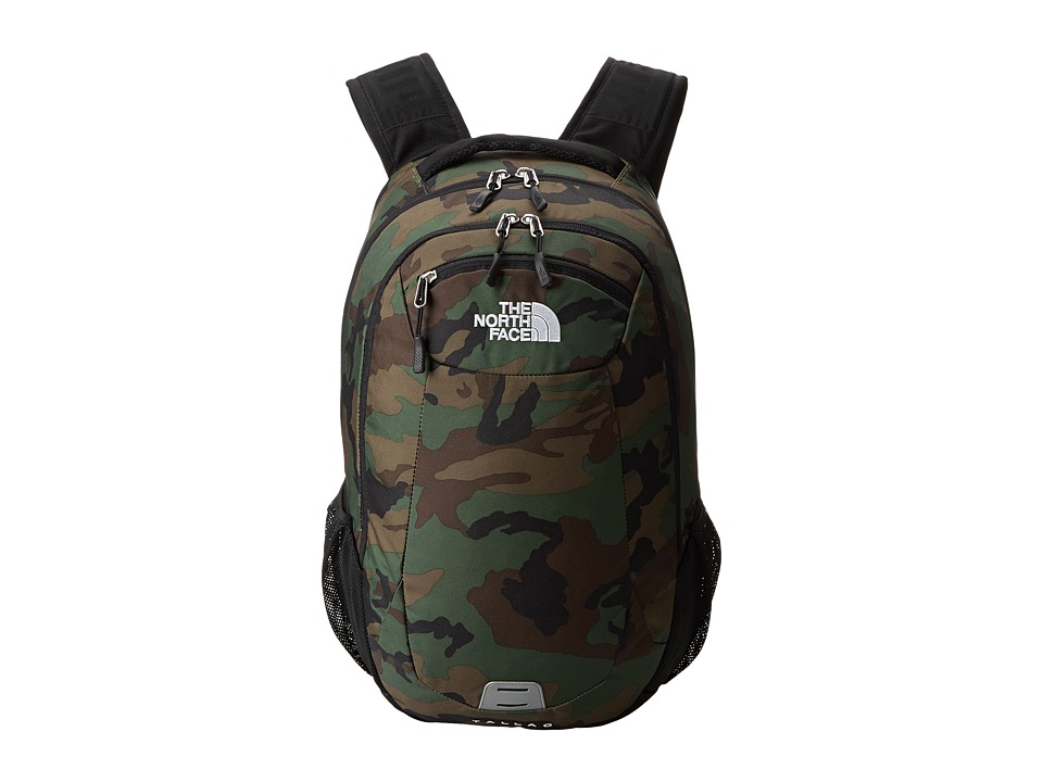 The North Face - Tallac (Military Green Woodland Print/TNF Black) Day Pack Bags