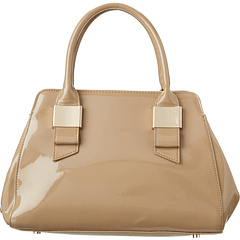 SALE! $84.99 - Save $90 on Ivanka Trump Patent Blair Framed Satchel (Beige) Bags and Luggage - 51.43% OFF $175.00