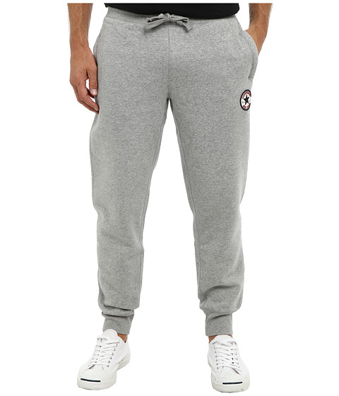 Converse - Core Chuck Patch Fleece Rib Cuff Pant (Vintage Grey Heather B13) Men