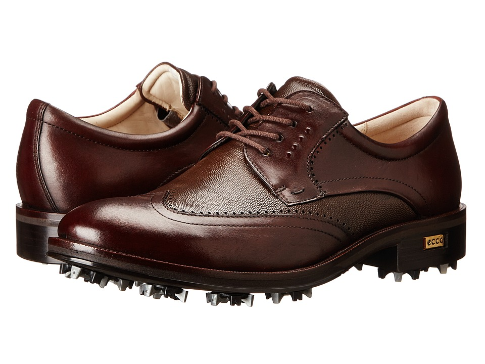 ECCO Golf - Golf New World Class (Mink/Cocoa Brown) Men's Golf Shoes