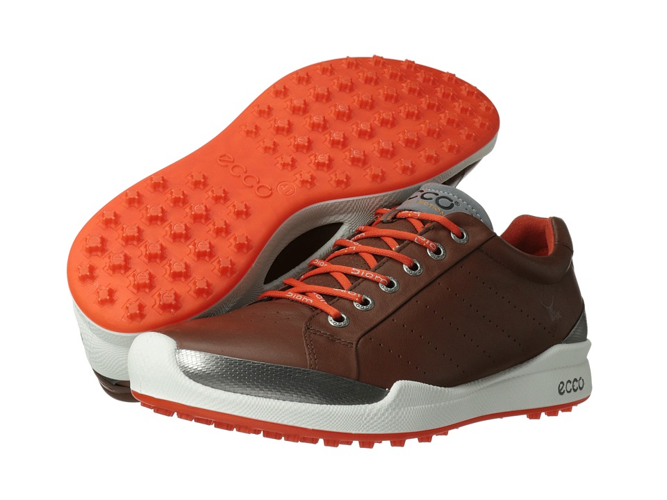 ECCO Golf - Biom Golf Hybrid (Mahogany/Fire) Men's Golf Shoes