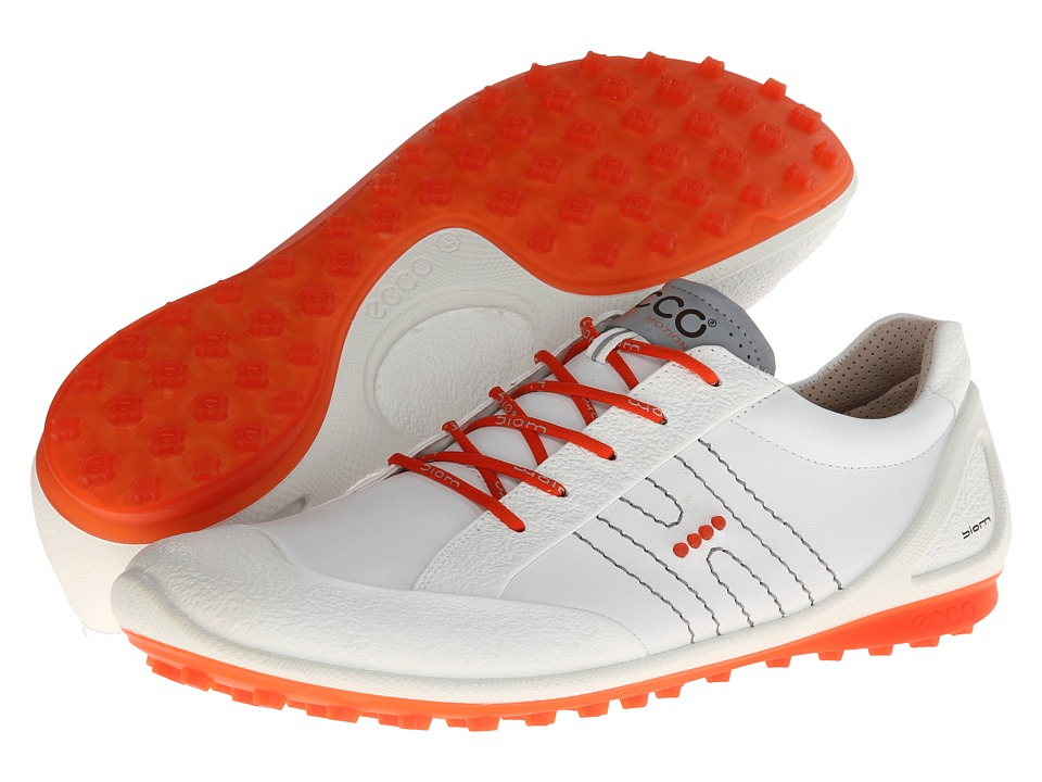ECCO Golf - Golf Biom Zero (White/Fire) Men's Golf Shoes