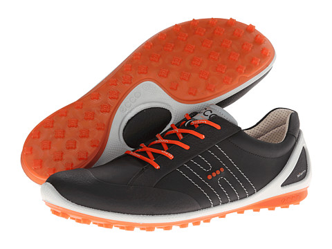 ECCO Golf - Golf Biom Zero (Black/Fire) Men's Golf Shoes
