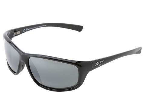 Maui Jim - Spartan Reef (Gloss Black/Neutral Grey) Polarized Sport Sunglasses