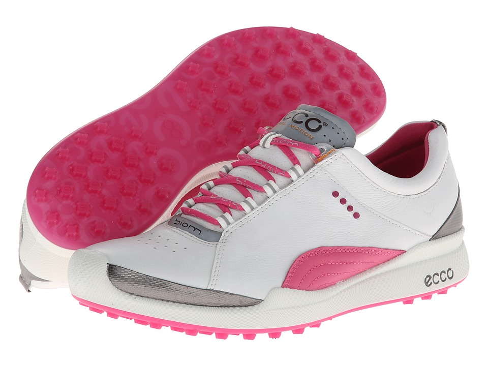 ECCO Golf - Biom Golf Hybrid (White/Fandango) Women's Golf Shoes