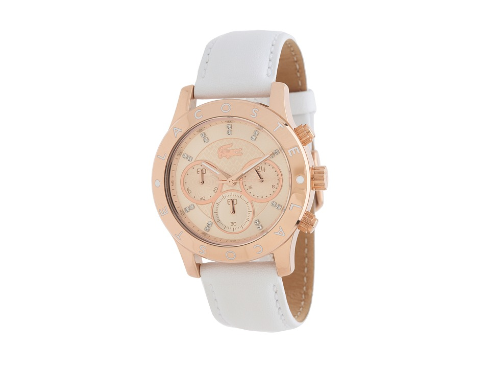 Lacoste - Charlotte (White/Rose Gold) Chronograph Watches