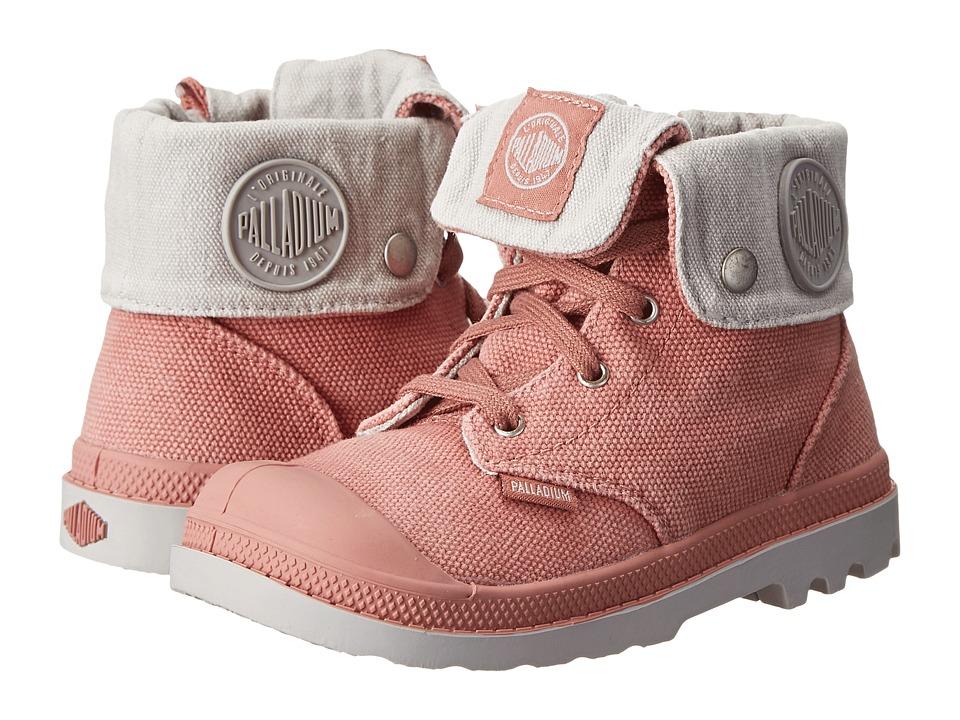 Palladium Kids - Baggy Zipper (Toddler) (Old Rose/Vapor) Girl's Shoes