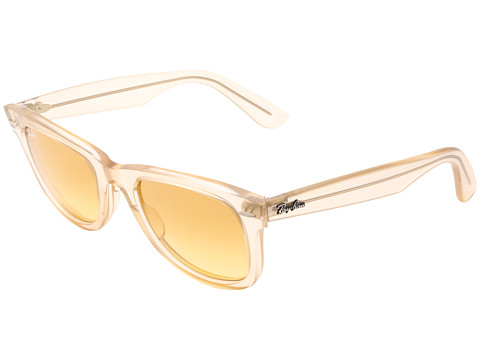 Ray-Ban - RB2410 Original Wayfarer Ice Pops 50mm (Demi Gloss Beige) Plastic Frame Fashion Sunglasses