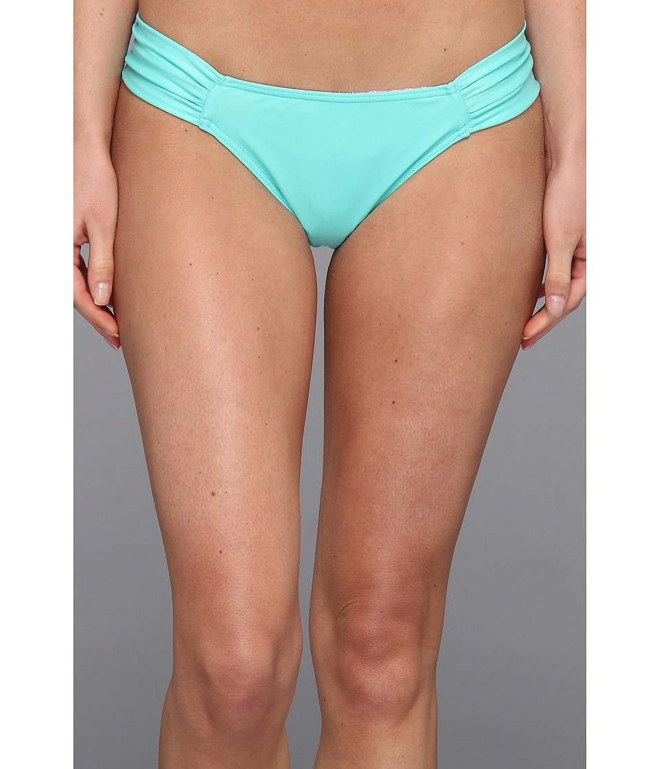 O'Neill - Solids Tab Side Bikini Bottom (Light Aqua) Women's Swimwear