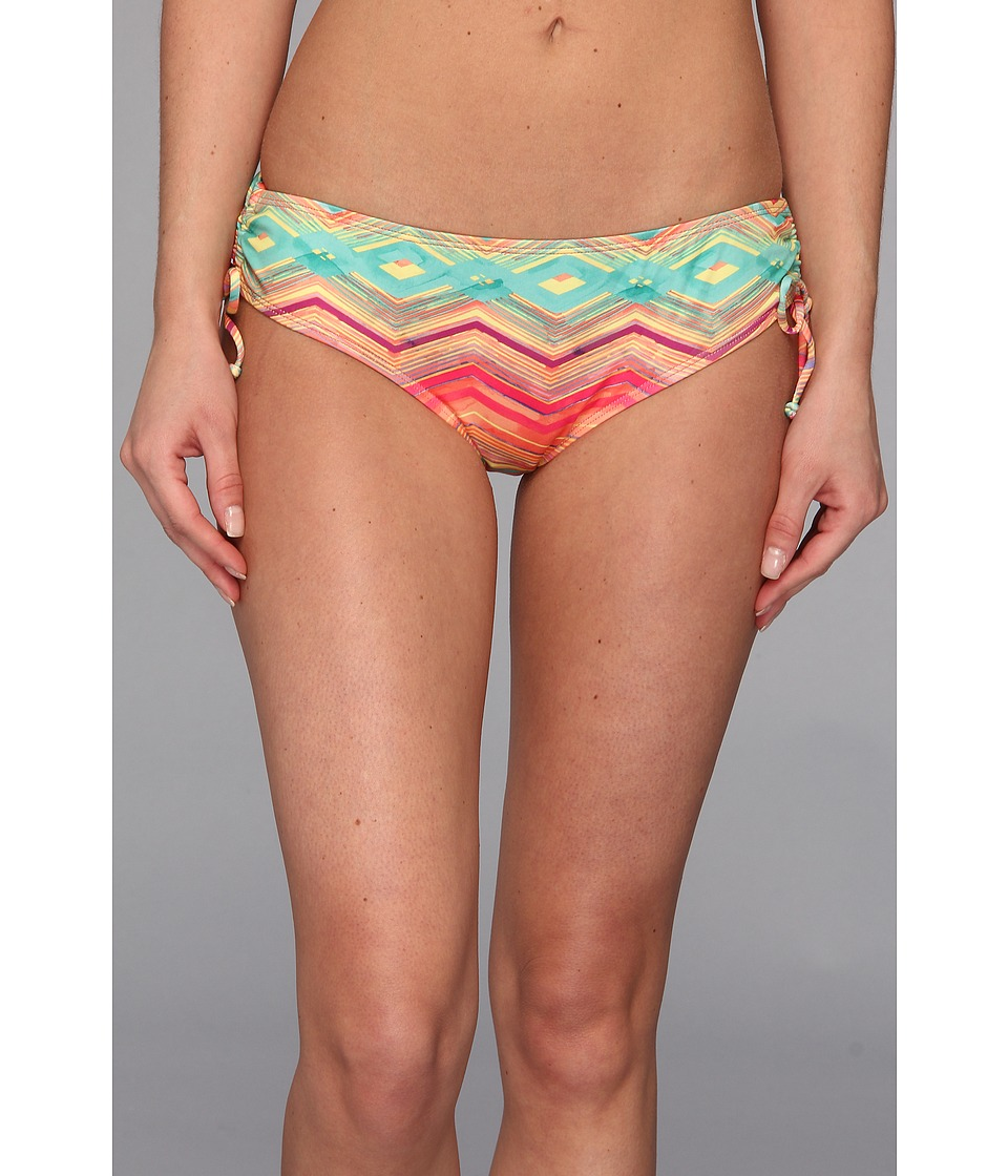 O'Neill - Sunsets Cinched Tie Side Bottom (Coral) Women's Swimwear