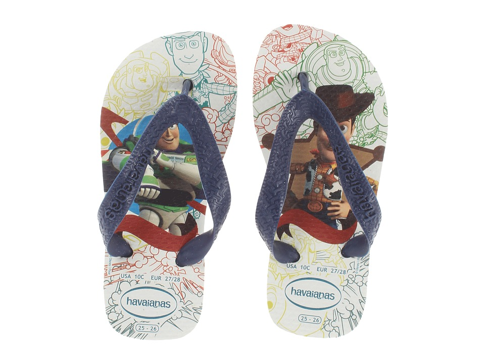 65be8817cf7128 Havaianas Kids Toy Story Disney Flip Flop Boys Shoes (White) on ...