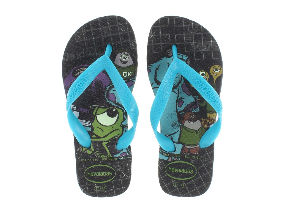 Havaianas Kids - Monsters Inc. Disney Flip Flop (Toddler/Little Kid/Big Kid) (Black) Boys Shoes