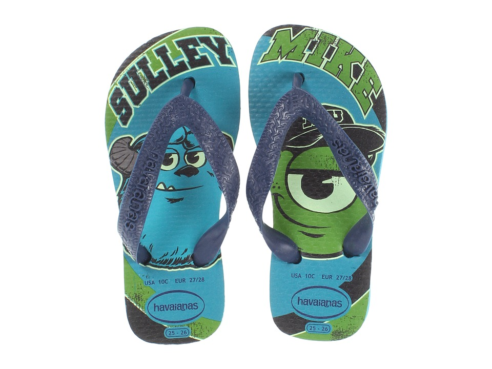 Havaianas Kids - Monsters Inc. Disney Flip Flop (Toddler/Little Kid/Big Kid) (Capri Blue) Boys Shoes
