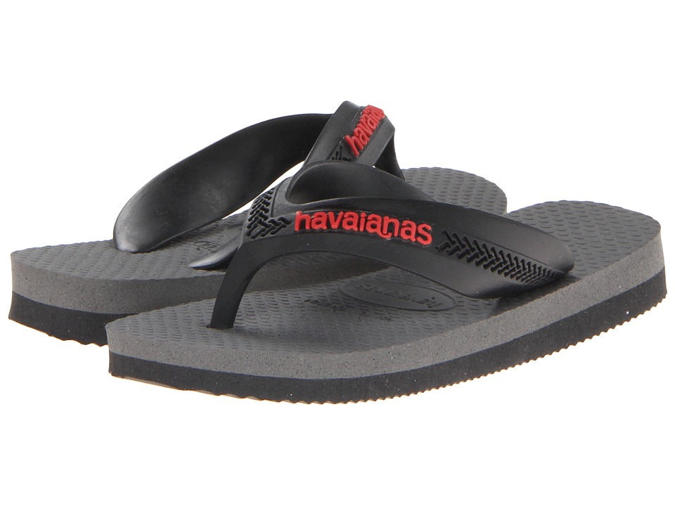 Havaianas Kids - Max (Toddler/Little Kid/Big Kid) (Black/Grey) Boys Shoes