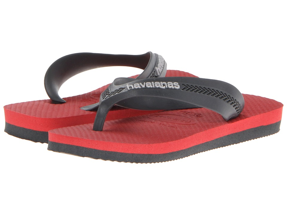 Havaianas Kids - Max (Toddler/Little Kid/Big Kid) (Grey/Red) Boys Shoes