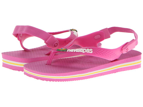 Havaianas Kids - Baby Brasil Logo (Toddler) (Light Pink) Girl's Shoes