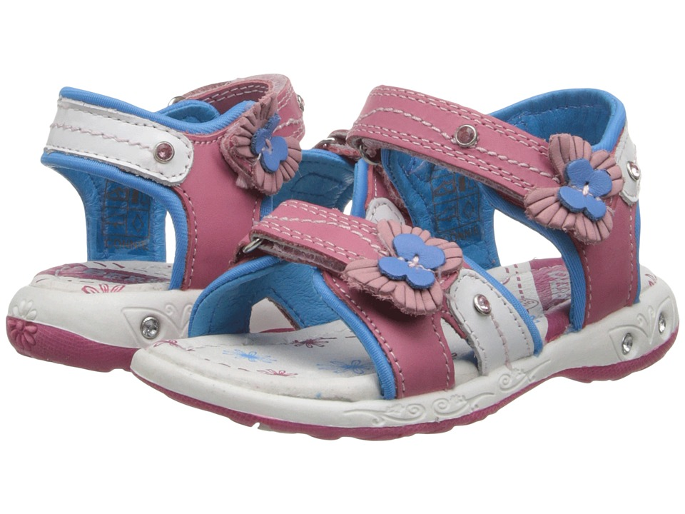 Beeko - Connie (Toddler/Little Kid) (White/Blue) Girls Shoes