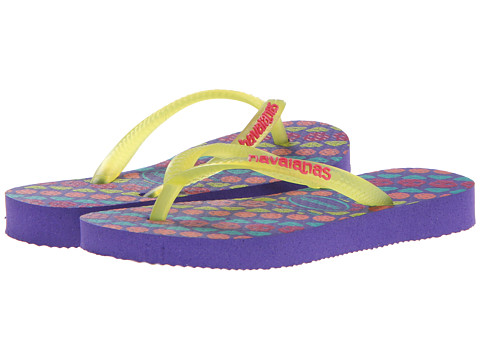 Havaianas Kids - Slim Trend (Toddler/Little Kid/Big Kid) (Ice Violet) Girls Shoes