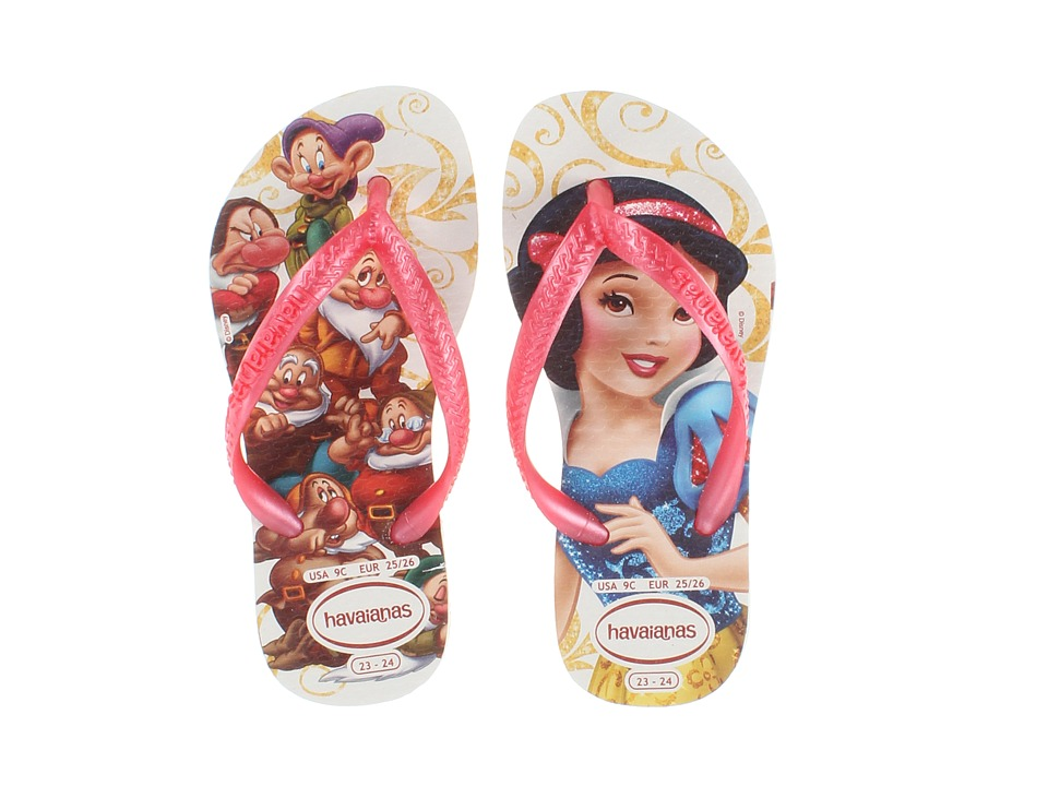 Havaianas Kids - Slim Princess Disney Flip Flops (Toddler/Little Kid/Big Kid) (White/Rose) Girl