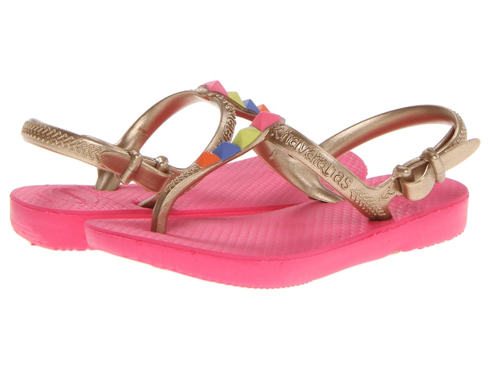 Havaianas Kids - Freedom (Toddler/Little Kid/Big Kid) (Neon Pink) Girls Shoes