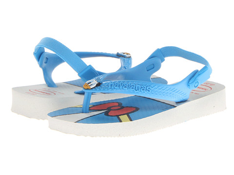 Havaianas Kids - Disney Classics (Toddler) (White/Blue) Boys Shoes