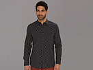 DKNY Jeans L/S Geo Print Shirt - City Press (Blue Nights) Men's Long Sleeve Button Up
