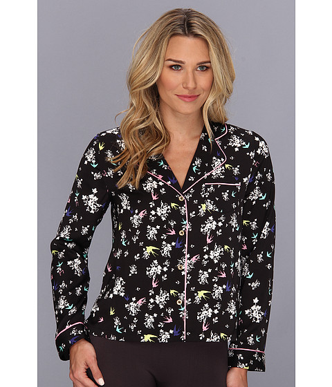 Juicy Couture - Valencia Bird PJ Top (P.Black Valencia) Women